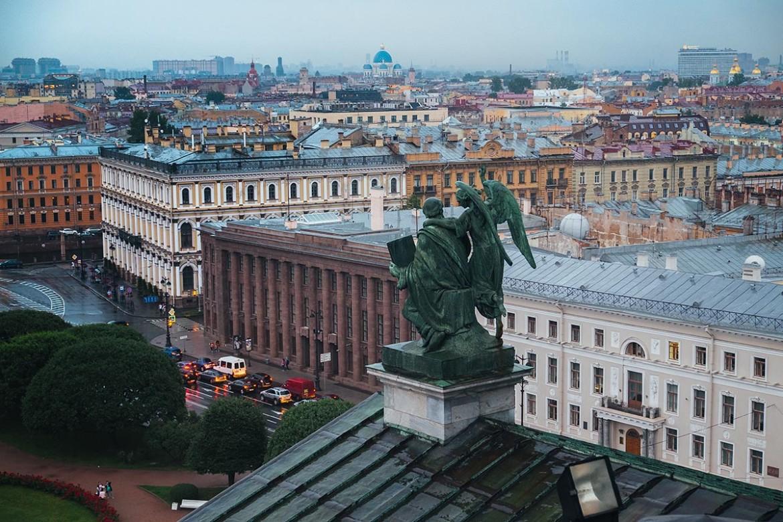Крыши Петербурга с Исакиевского собора