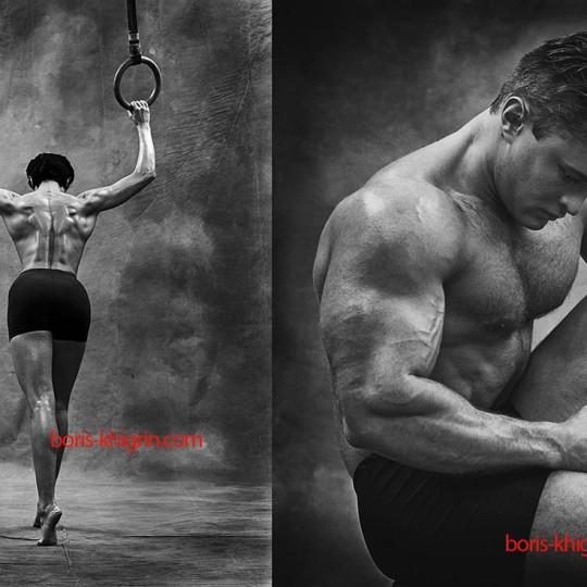 Рекламная фитнес фотосессия для