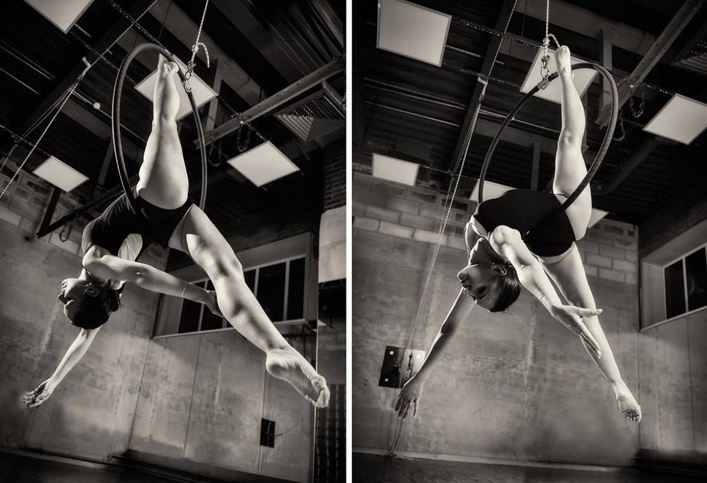 Фитнес фотосессия. Воздушная акробатика.