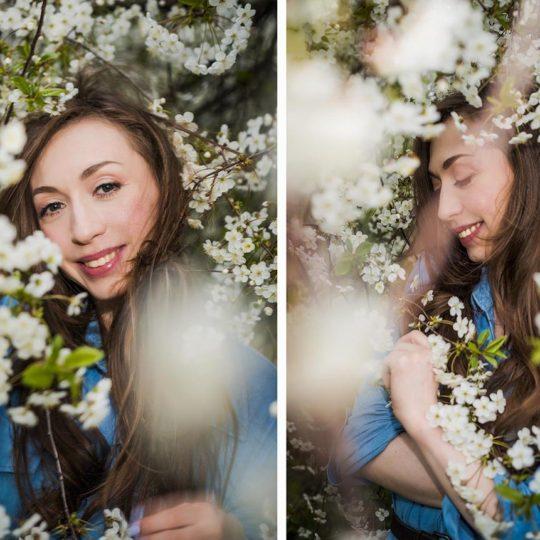 весенняя фотосессия в цветущих садах