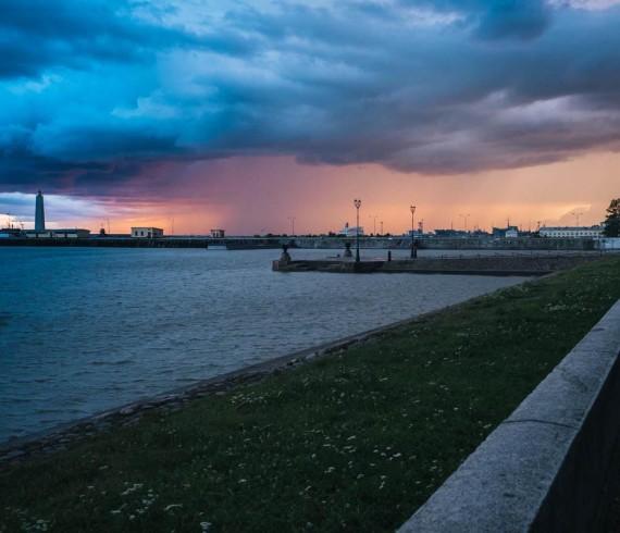 Петербург - Кронштадт, на краю моря..