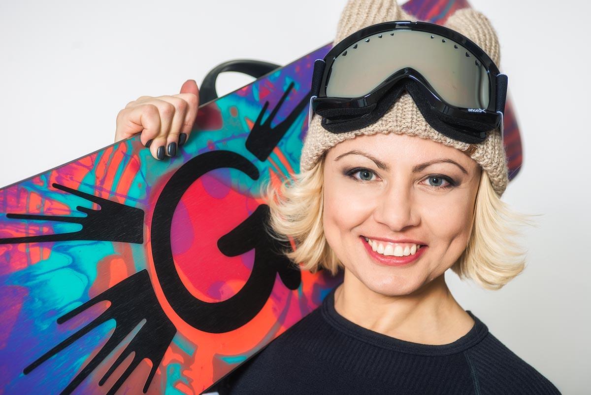 спортивня сноуборд фотосессия в студии
