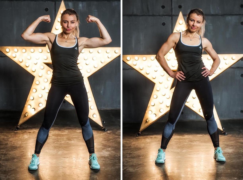 Пример съёмки фитнес модели в студии