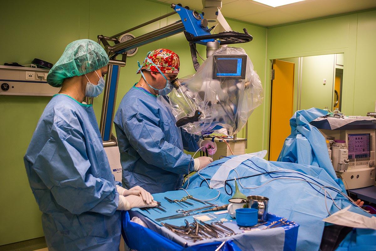 Пример съёмки хирургической операции