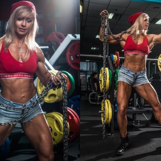 Фитнес фотосессия Марины Власовой