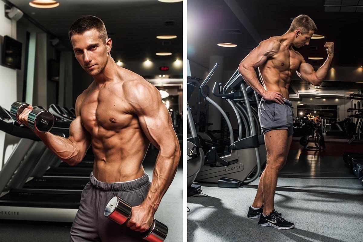 Фитнес съемка физкультурника