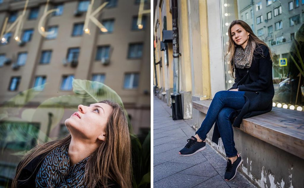 Пример городской фотосессии девушки в Москве