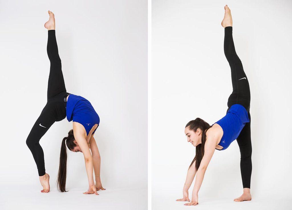 Пример фитнес фотосессии девушки