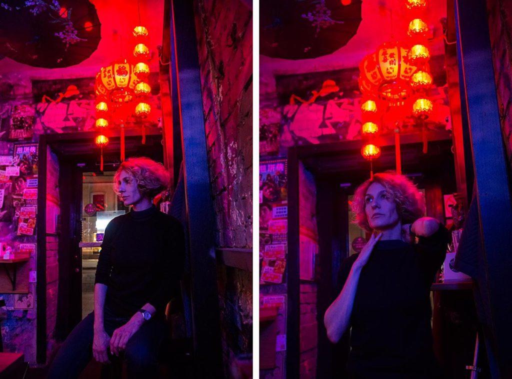 Пример ночной фотосессии в городе