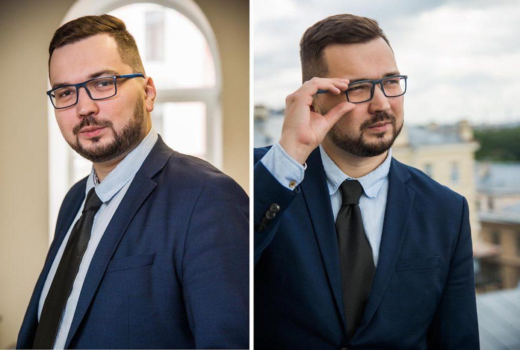 Пример съёмки бизнес портрета МПб
