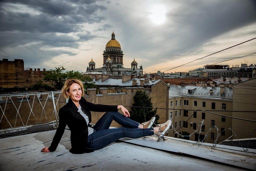 Пример фотосессии на крыше в Санкт-Петербурге