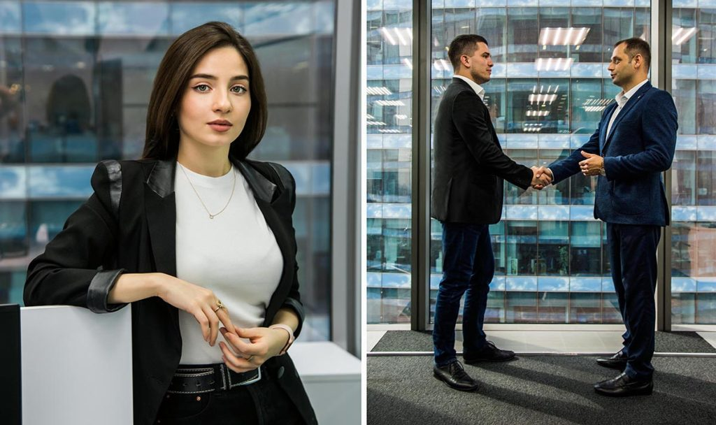 Пример съёмки для бизнеса в Moscow City