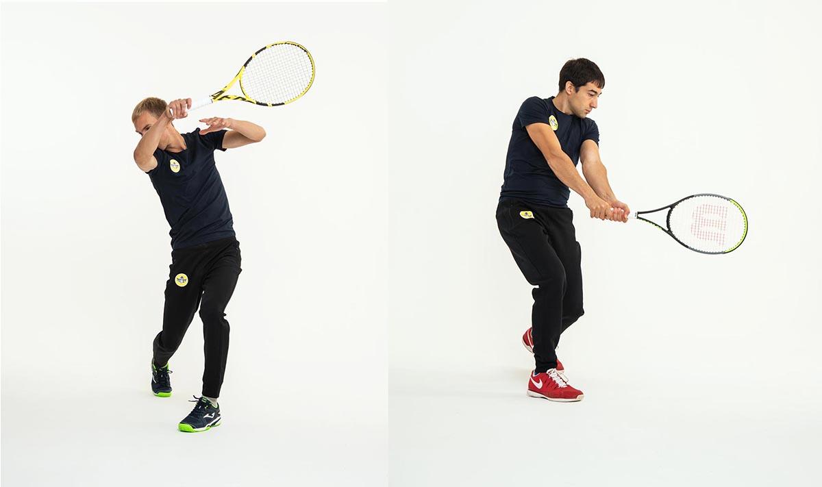 Пример контент съёмки для теннисной школы
