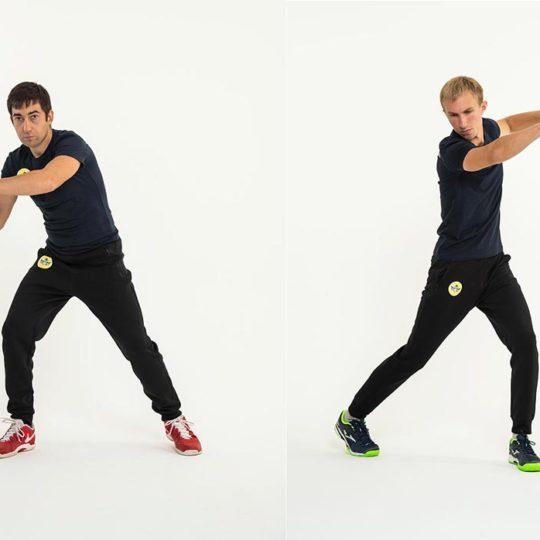 Фотосессия тренера по теннису