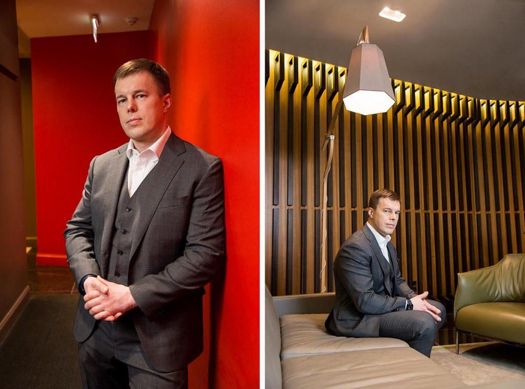 Пример съёмки мужского делового портрета для личного бренда