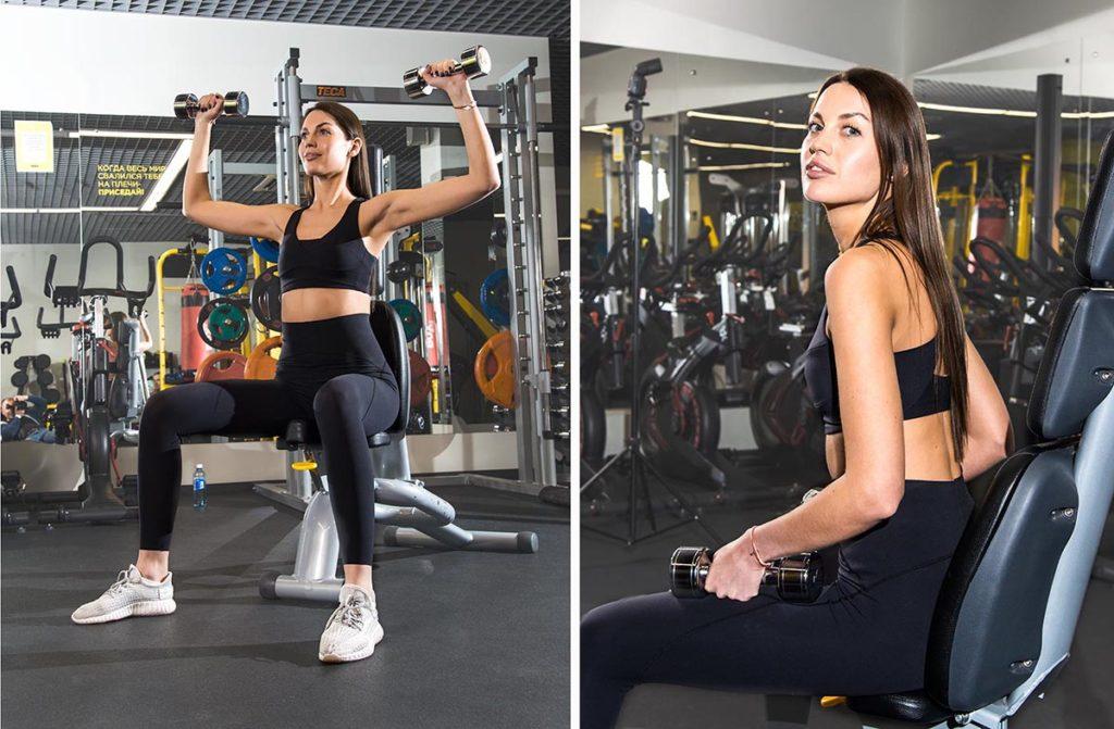 Пример фитнес съёмки для девушки