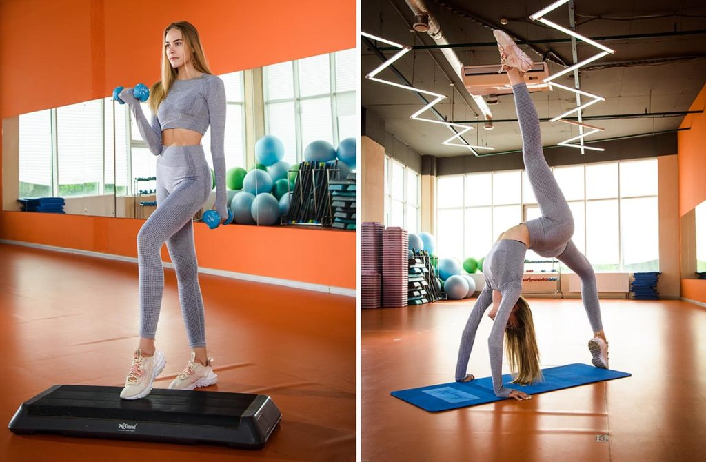 Пример фотосессии для девушек в спортзале
