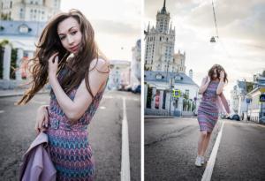 Городская фотосессия девушки
